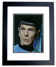 Leonard Nimoy Autographed STAR TREK 8x10 Photo BLACK CUSTOM FRAME - Deceased 2015