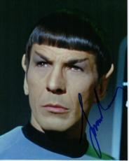 Leonard Nimoy Autographed STAR TREK 8x10 Photo - Deceased 2015