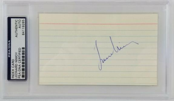 Leonard Nimoy (d. 2015) Signed 3x5 Index Card Autographed PSA/DNA Certified