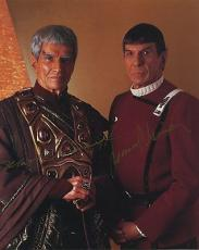 Leonard Nimoy & Mark Lenard Star Trek Signed Autographed Color Photo Spock Wow!