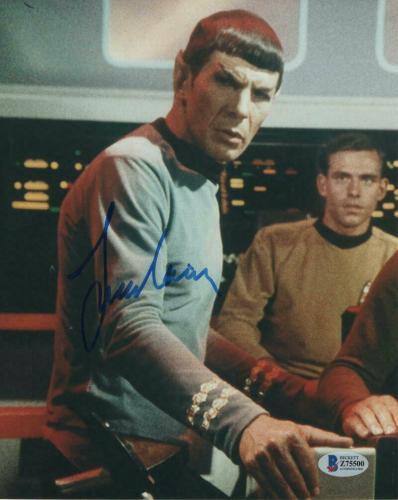 Leonard Nimoy Signed Autograph 8x10 Photo - Star Trek Original Spock, Beckett
