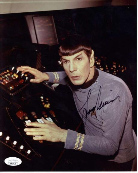 Leonard Nimoy Signed Autographed 8x10 Color Photo JSA  ID: 12189