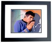 Leonard Nimoy Signed - Autographed Star Trek - Mr. Spock 8x10 inch Photo BLACK CUSTOM FRAME - Guaranteed to pass PSA or JSA