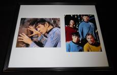Leonard Nimoy Signed Framed 16x20 Photo Display JSA Star Trek w/ cast