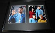 Leonard Nimoy Signed Framed 16x20 Photo Set JSA Star Trek w/ cast