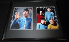 Leonard Nimoy Signed Framed 16x20 Photo Set JSA Star Trek w/ cast