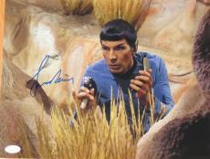 Leonard Nimoy Signed Star Trek 11x14 Photo Autograph B Jsa Coa