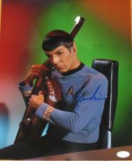 Leonard Nimoy Signed Star Trek 11x14 Photo Autograph Jsa Coa