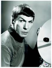 Leonard Nimoy Signed Star Trek Authentic Autographed 11x14 Photo PSA/DNA #X79068