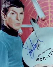 Leonard Nimoy Signed Star Trek Authentic Autographed 8x10 Photo PSA/DNA #Y45931