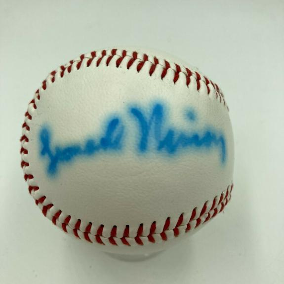Leonard Nimoy Single Signed Autographed Baseball Spock Star Trek JSA COA RARE
