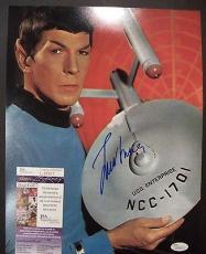 Leonard Nimoy Spock Star Trek Legend Signed Autographed 11x14 Photo Jsa Coa B