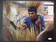 Leonard Nimoy Spock Star Trek Legend Signed Autographed 11x14 Photo Jsa Coa A