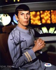 Leonard Nimoy Star Trek Autographed Signed 8x10 Photo Certified PSA/DNA AFTAL