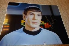 Leonard Nimoy Star Trek Signed 11x14 Autographed Color Photo Wow!