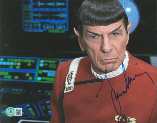 Leonard Nimoy Star Trek Signed 8x10 Photo Autographed BAS #BB83021