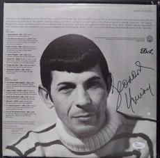 "Leonard Nimoy Star Trek Signed Autograph ""two Sides Of Nimoy"" Album W/coa Rare A"