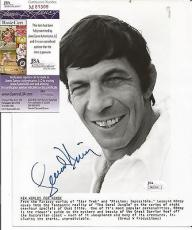 Leonard Nimoy Star Trek Signed Autographed 8x10 B/w Promo Photo Jsa Coa Rare
