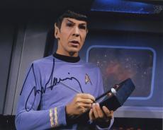 Leonard Nimoy Star Trek Signed Autographed Color Photo Spock Wow!