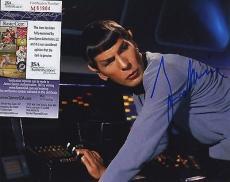 Leonard Nimoy Star Trek Signed Autographed Jsa Coa Spence Color Photo Spock Wow!
