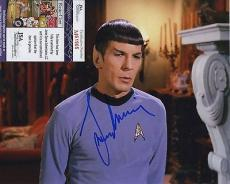 Leonard Nimoy Star Trek Signed Autographed Jsa Coa Spence Color Photo Spock Wow!