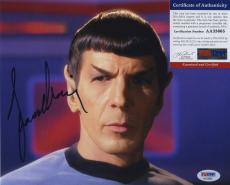 Leonard Nimoy Star Trek Signed Autographed Psa/dna Coa Color Photo Spock