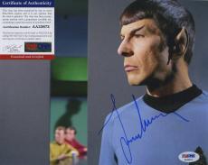 Leonard Nimoy Star Trek Signed Autographed Psa/dna Coa Color Photo Spock