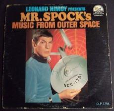 Leonard Nimoy Star Trek Signed Mr.spock Music From Outer Space Album Jsa Loa