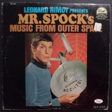 Leonard Nimoy Star Trek Signed Mr.spock Music From Outer Space Album Jsa Loa A