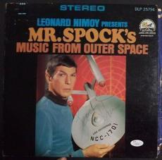 Leonard Nimoy Star Trek Signed Mr.spock Music From Outer Space Album Jsa Loa B