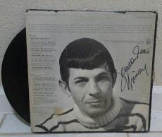 Leonard Nimoy Star Trek Spock Signed Autograph Album Cover Full Name Graph W/coa