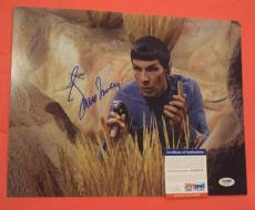 Leonard Nimoy Star Trek Spock Signed Autographed 11x14 Photo PSA/DNA COA A