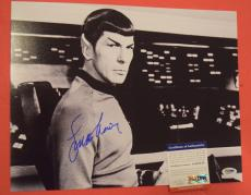 Leonard Nimoy Star Trek Spock Signed Autographed 11x14 Photo PSA/DNA COA B