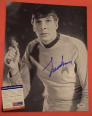 Leonard Nimoy Star Trek Spock Signed Autographed 11x14 Photo PSA/DNA COA C