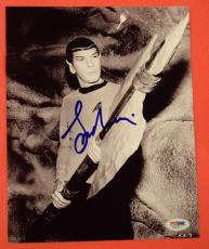 Leonard Nimoy Star Trek Spock Signed Autographed 8x10 Photo PSA/DNA COA B