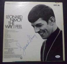 "Leonard Nimoy Star Trek ""the Way I Feel"" Signed Autographed Album Cover Jsa Loa"