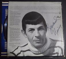 "Leonard Nimoy Star Trek ""two Sides Of L.nimoy"" Signed Auto Album Cover Jsa Loa"