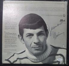 "Leonard Nimoy Star Trek ""two Sides Of L.nimoy"" Signed Auto Album Cover Jsa Loa A"