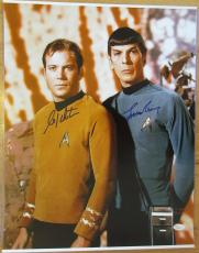 Leonard Nimoy / William Shatner Star Trek Signed 16X20 Photo - JSA