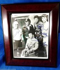 Leonard Nimoy, Wm.shatner, Kelley,wise, Roddenberry, Framed Signed 5x's