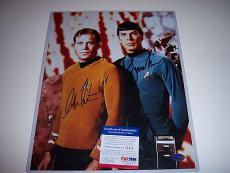 Leonard Nimoy,william Shatner Star Trek Psa/dna Signed 11x14 Photo