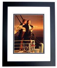 Leonardo DiCaprio and Kate Winslet Signed - Autographed TITANIC 11x14 Photo BLACK CUSTOM FRAME
