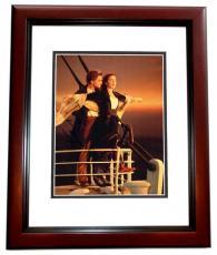 Leonardo DiCaprio and Kate Winslet Signed - Autographed TITANIC 11x14 Photo MAHOGANY CUSTOM FRAME