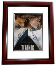 Leonardo DiCaprio and Kate Winslet Signed - Autographed TITANIC 8x10 Photo MAHOGANY CUSTOM FRAME