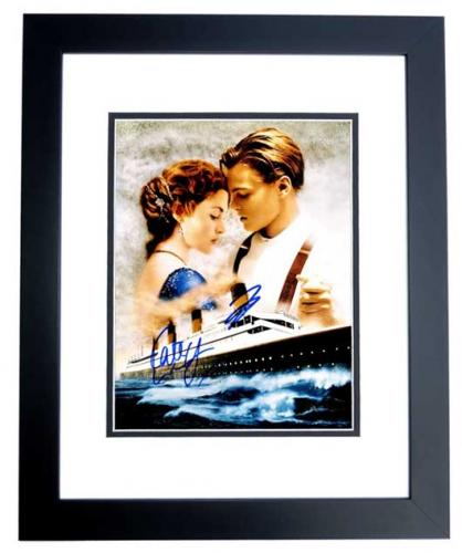 Leonardo DiCaprio and Kate Winslet Signed - Autographed TITANIC 11x14 inch Photo - BLACK CUSTOM FRAME - Guaranteed to pass PSA or JSA