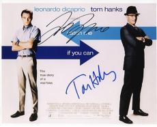 "Leonardo DiCaprio and Tom Hanks Autographed ""Catch Me if You Can"" 8x10 Photo"
