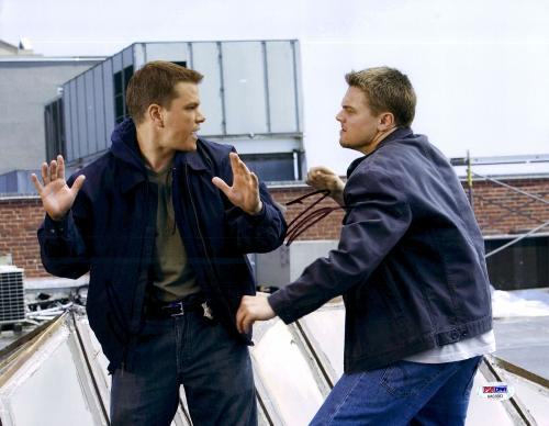 """Leonardo DiCaprio Autographed 11"""" x 14"""" The Departed: Fighting Photograph - PSA/DNA LOA"""