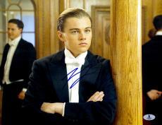 "Leonardo DiCaprio Autographed 11"" x 14"" Titanic Wearing Tux Amrs Folded Photograph - Beckett COA"
