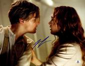 "Leonardo DiCaprio Autographed 11""x 14"" Titanic Looking at Kate Winslet Photograph - BAS COA"