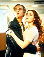 "Leonardo DiCaprio Autographed 11""x 14"" Titanic Looking Up Photograph - BAS COA"